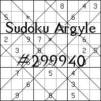 Sudoku de Argyle №299940