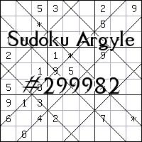 Sudoku de Argyle №299982