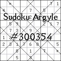 Sudoku de Argyle №300354