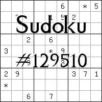 Sudoku №129510