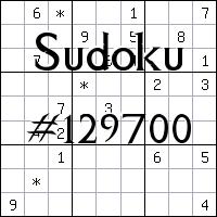 Sudoku №129700