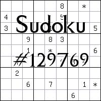 Sudoku №129769
