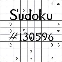 Sudoku №130596