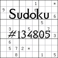 Sudoku №134805