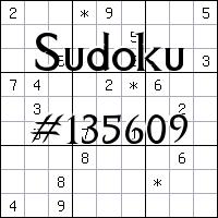 Sudoku №135609