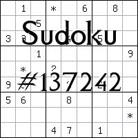 Sudoku №137242