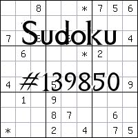 Sudoku №139850