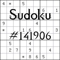 Sudoku №141906