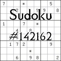 Sudoku №142162