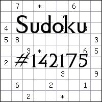 Sudoku №142175