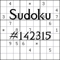 Sudoku №142315