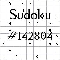 Sudoku №142804