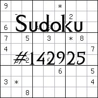 Sudoku №142925