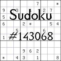 Sudoku №143068