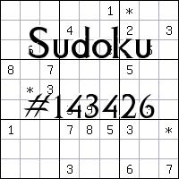Sudoku №143426