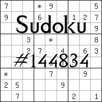 Sudoku №144834