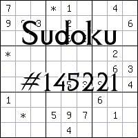 Sudoku №145221