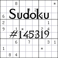 Sudoku №145319