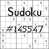 Sudoku №145547