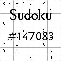 Sudoku №147083