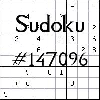 Sudoku №147096