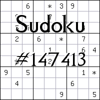 Sudoku №147413