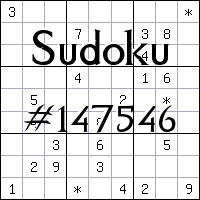 Sudoku №147546
