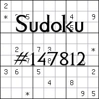 Sudoku №147812