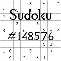 Sudoku №148576