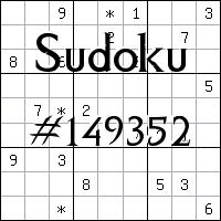 Sudoku №149352