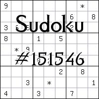 Sudoku №151546