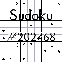 Sudoku №202468
