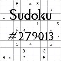 Sudoku №279013