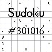 Sudoku №301016