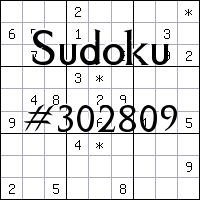 Sudoku №302809