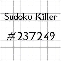 Sudoku asesino №237249