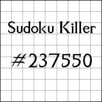 Sudoku asesino №237550