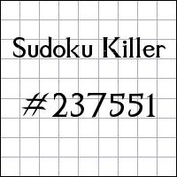 Sudoku asesino №237551