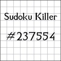 Sudoku asesino №237554