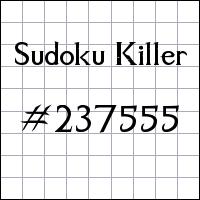 Sudoku asesino №237555