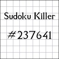 Sudoku asesino №237641