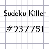 Sudoku asesino №237751