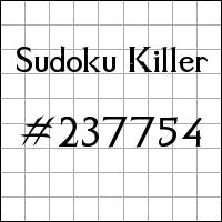 Sudoku asesino №237754