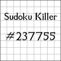 Sudoku asesino №237755