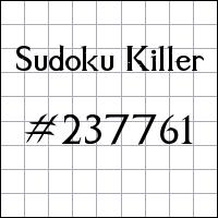 Sudoku asesino №237761