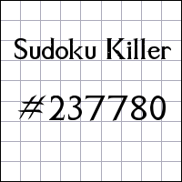 Sudoku asesino №237780
