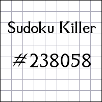 Sudoku asesino №238058