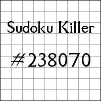 Sudoku asesino №238070