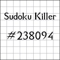 Sudoku asesino №238094