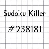 Sudoku asesino №238181